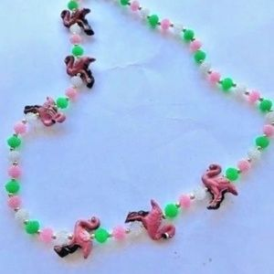 Jewelry - Flamingo beaded necklace Cruise Pool Party Beach